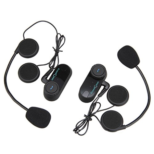 Inal/ámbrico Auriculares Motocicleta Cascos Bluetooth 4.1 MoreChoice Manos Libres Moto Auriculares Intercomunicador BluetoothCasco Auricular Altavoces Est/éreo M/úsica Micr/ófono Control Llamadas