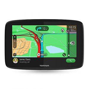 TomTom GO Essential – Navegador 5 pulgadas, llamadas manos libres, Siri y Google Now, actualizaciones mediante Wi-Fi, Traffic y Mapas de 49 países para toda la vida, notificaciones de smartphone, pantalla capacitiva [OFERTAS]