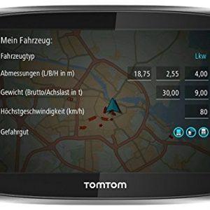 TomTom Trucker 6000 Lifetime Edition – Navegador GPS de 6″ para camiones (mapas del mundo, ranura para tarjeta microSD), color negro- version importada [OFERTAS]