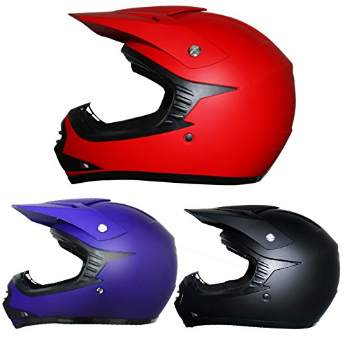 Leopard ni/ños Gafas de Motocross Bicicleta Moto ATV Patio Gafas de Protecci/ón Rojo