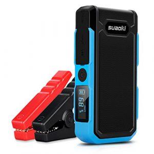 Suaoki U10 – Jump Starter de 20000mAh, 800A Batería Arrancador de Coche (Batería Externa Recargable, LED Flashlight, Multifunción, Con pinzas inteligentes) (azul) [OFERTAS]